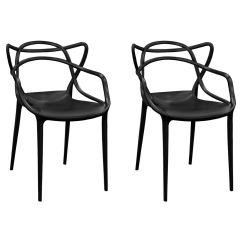Chair Stands On Bedroom Gold Coast Black Plastic Indoor Loop Mm Pc 006 Stackchairs4less Com Tap To Expand