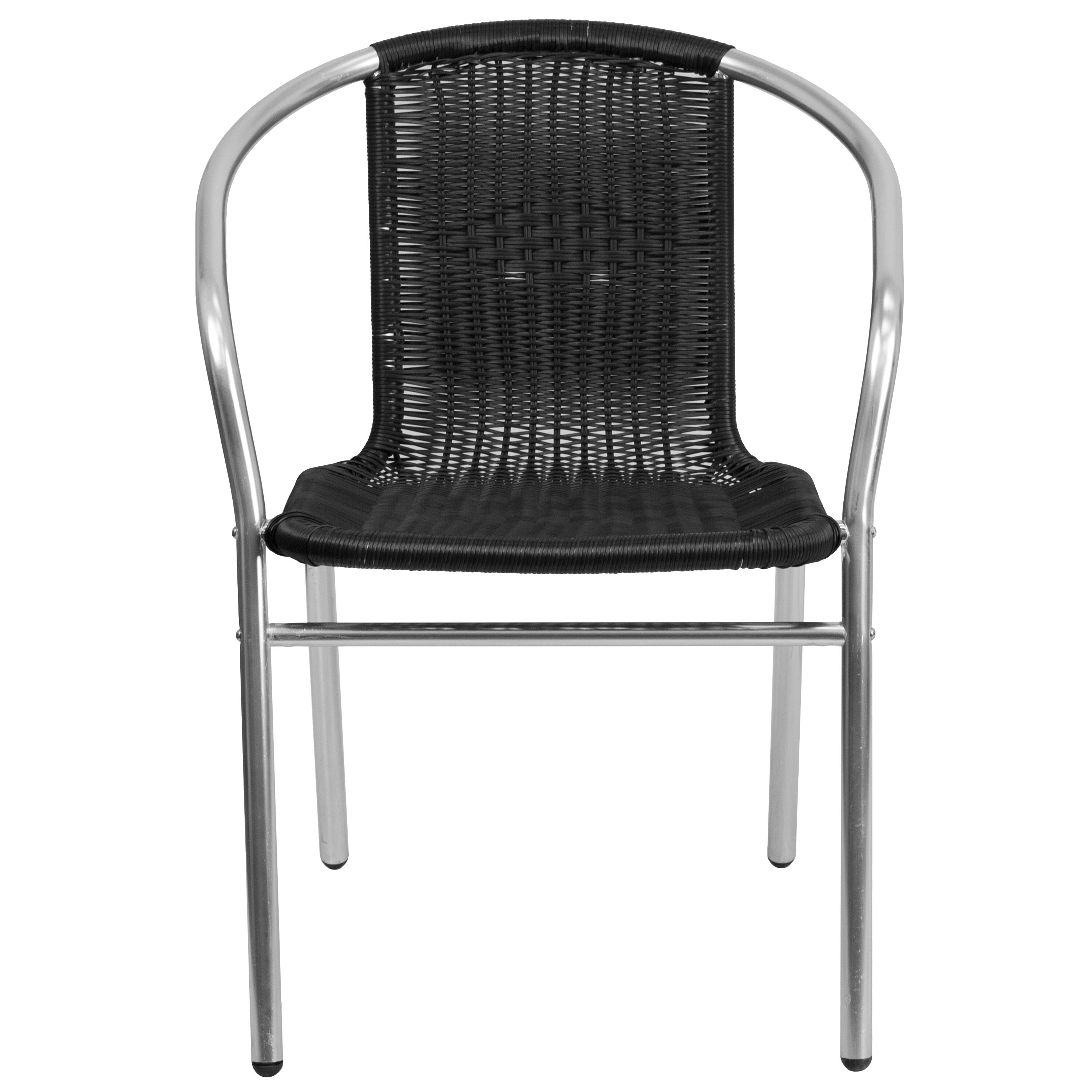 black rattan chair jumper chairs for babies aluminum tlh 020 bk gg stackchairs4less com our commercial and indoor outdoor restaurant stack is on sale now