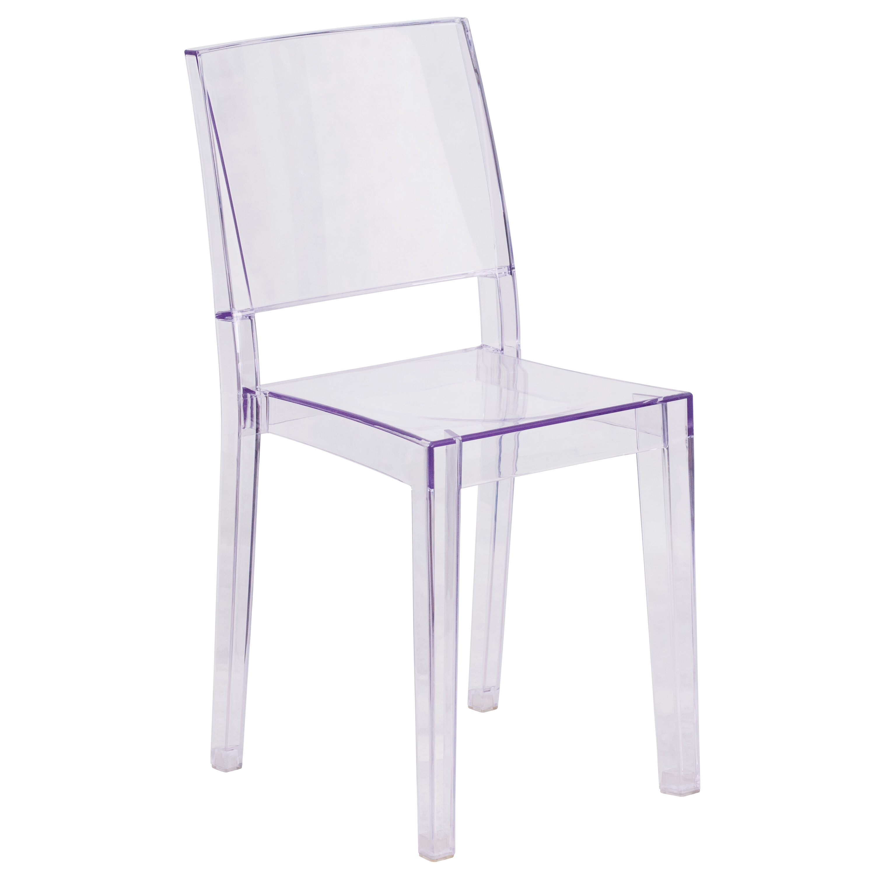 chair covers for plastic stacking chairs refurbished barber stackchairs4less stack phantom series transparent side