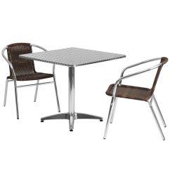 2 Chairs And Table Rattan Black Dining Room Set Of 4 31 5sq Aluminum Tlh Alum 32sq 020chr2 Gg Mgctlbxn Mzp Mgctlbxv 5 Mgctlbxl C