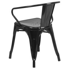 Black Metal Outdoor Chairs Senior Citizen Chair With Arms Ch 31270 Bk Gg