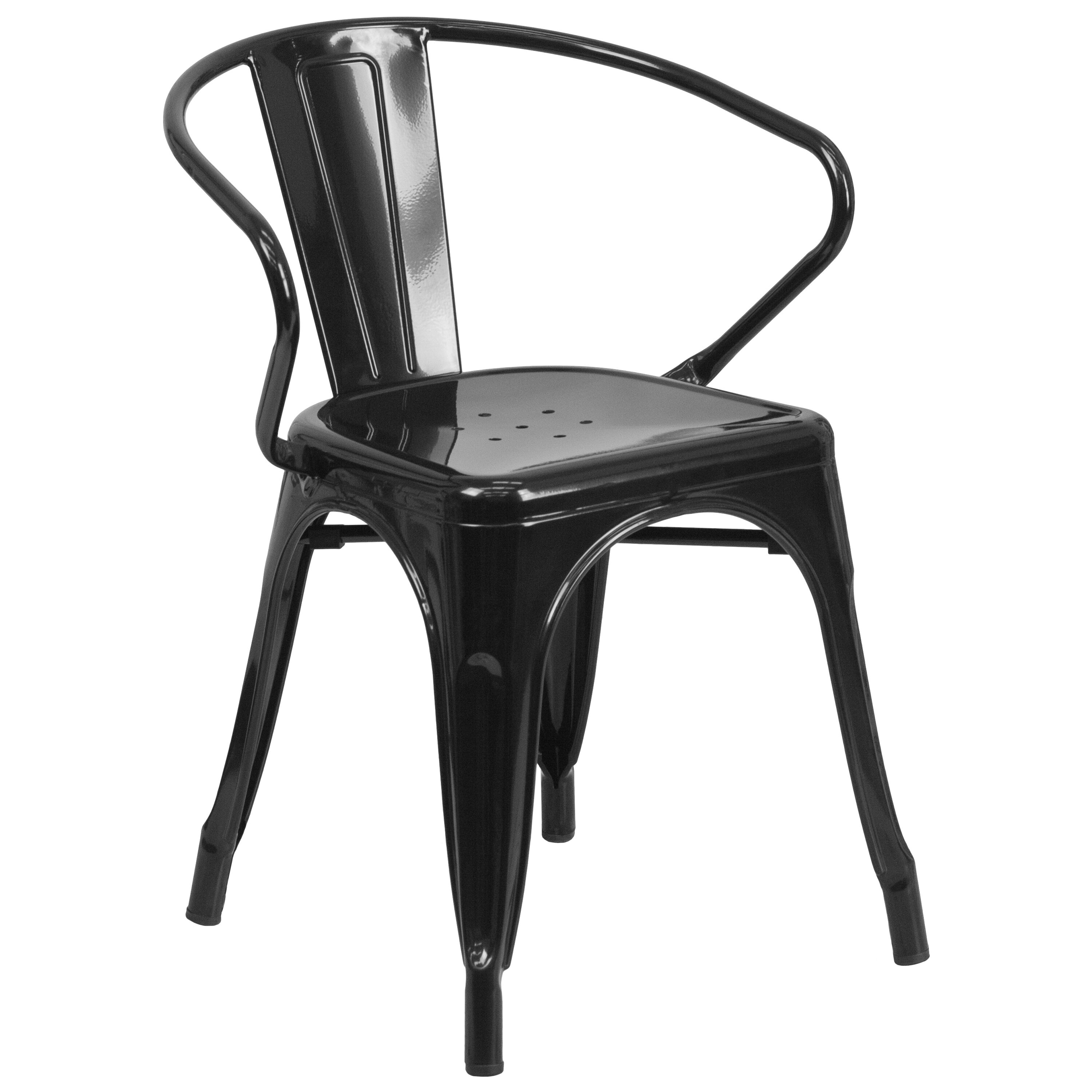 black metal outdoor chairs the chair outlet keizer oregon with arms ch 31270 bk gg