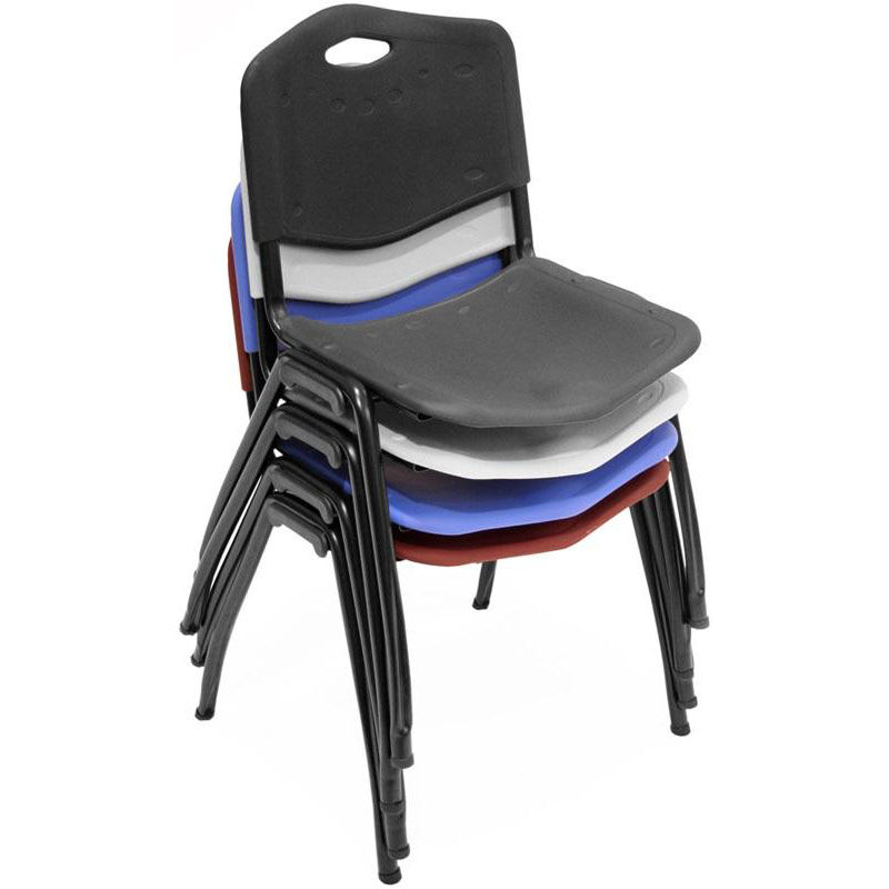 stackable chairs for less bamboo wing back plastic stack chair blue 4700be stackchairs4less