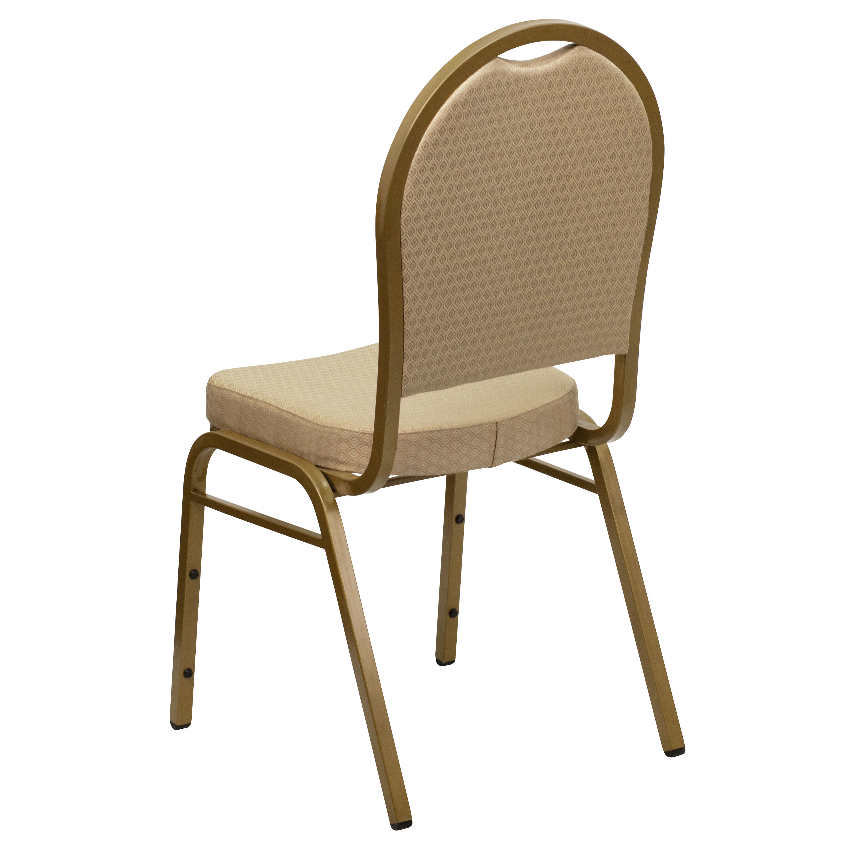 Beige Fabric Banquet Chair FDC03ALLGOLDH20124EGG