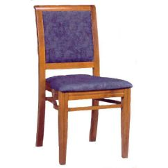 Upholstered Stacking Chairs Light Blue Guest Chair 609 Grade1