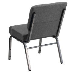 Stackable Church Chairs Swivel Outdoor Chair Gray Fabric Xu Ch0221 Gy Sv Gg