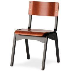 Stackable Chairs For Less Assembled Dining Carlo Armless Chair Wood Seat Stacking