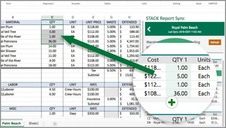 Excel Estimating Template Construction Report Sync Add In
