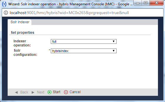 HMC run Solr full indexation in Hybris