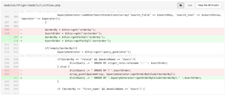 Actualización vtiger 7.2 y la función «Ordenar por»