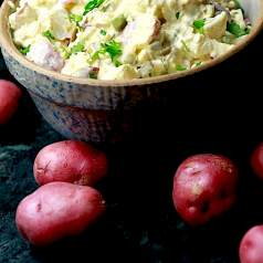 Finished bowl potato salad