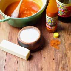 Ingredients for hot sauce