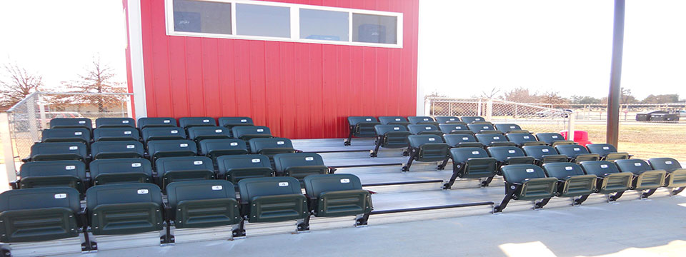 stadium chair for bleachers indoor cushions aluminum bleacher seats enclosed interlocking decking back baseball elevated