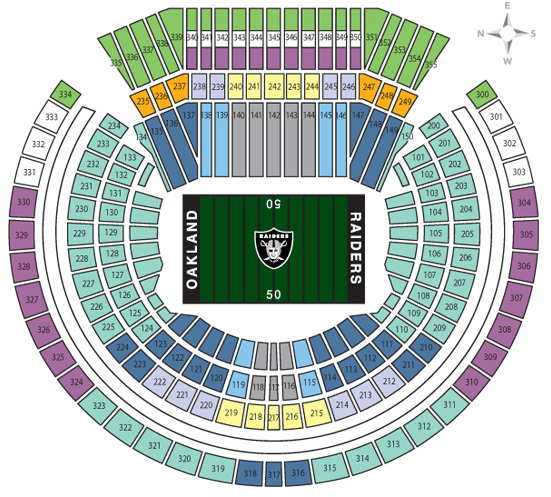 Warriors New Stadium Virtual Tour: Oakland Coliseum Seating Chart Rows