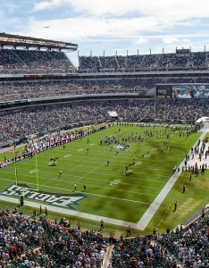 View of the playing field at lincoln financial home philadelphia eagles also football stadium rh stadiumsofprofootball