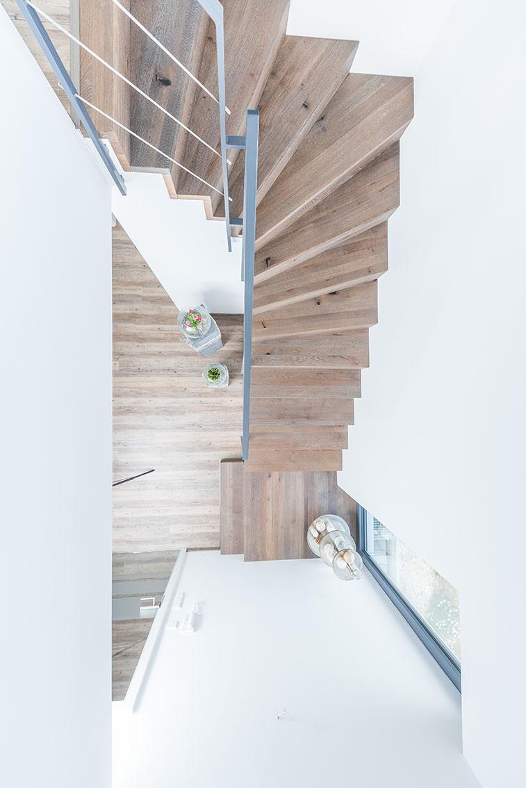 Viertelgewendelte Treppen Aus Stahl Und Holz | Stadler Treppen