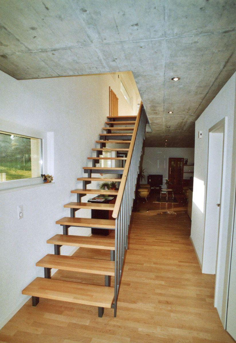 Gerade Treppen Aus Stahl Und Holz ǀ Stadler Treppen