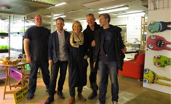 Från vänster: Henrik, Jens, Karolina, Niklas och Ulf.