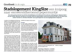 Stadslogement KingSize, een knipoog naar een wereldberoemd pepermuntje (GrootSneek 25-6-2014)