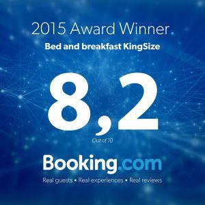 Gasten beoordeelden Stadslogement KingSize gemiddeld met een 8,2 in 2015