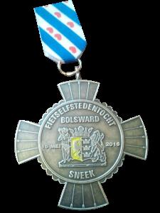 Fiets Elfstedentocht medaille 2016