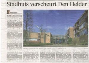 Artikel wat niet verscheen in Den Helder