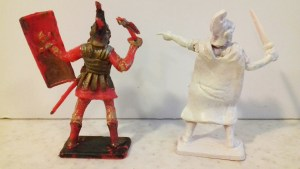 Plastic Figure Showcase: Peter Evans Conversions Treasure Plus Marx Arabs