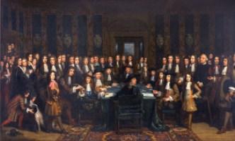 Vrede_van_Nijmegen_-_De_ondertekening_van_de_Vrede_tussen_Frankrijk_en_Spanje_door_Henri_Gascard_(1635-1701)