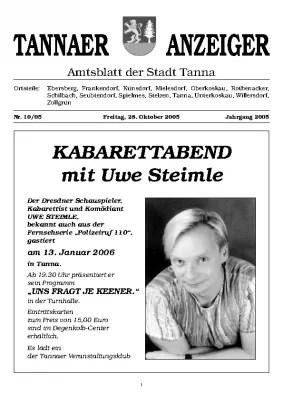 Amtsblatt Oktober 2005