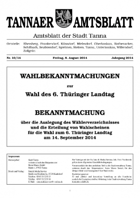 Wahl August 2014