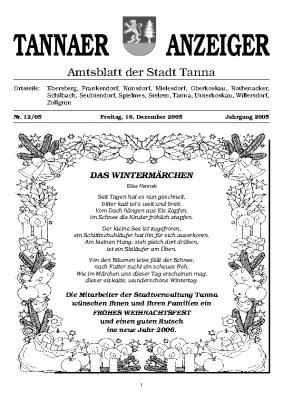 Amtsblatt Dezember 2005