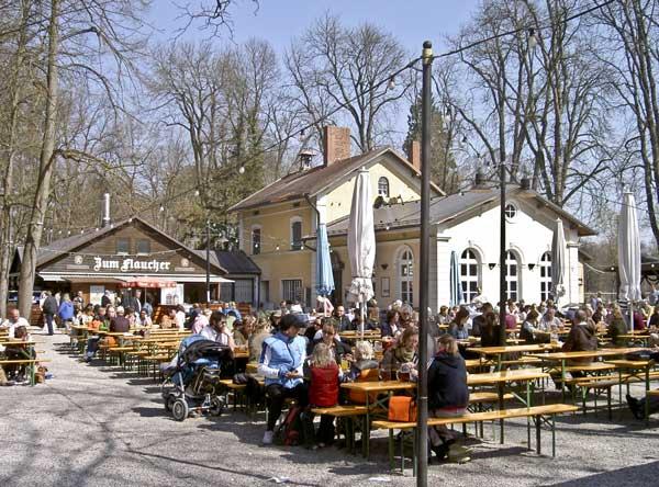 Biergarten Zum Flaucher  Biergrten in Mnchen