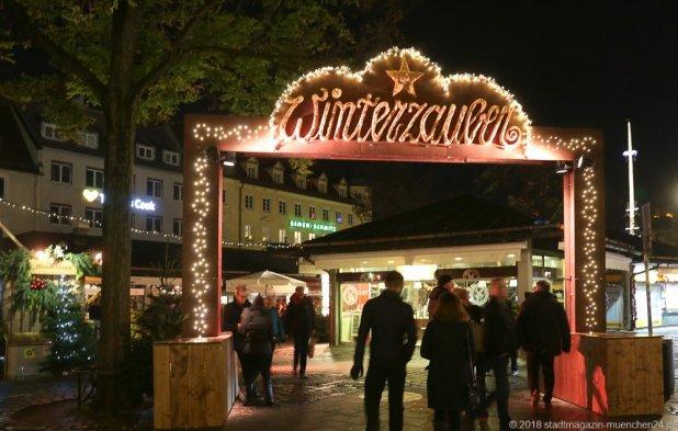 Winterzauber am Viktualienmarkt in München 2018