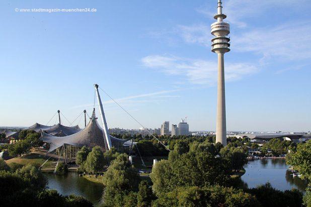 Olympiapark Schwimmhalle und Olympiaturm München