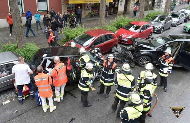 Verkehrsunfall Lindwurmstraße