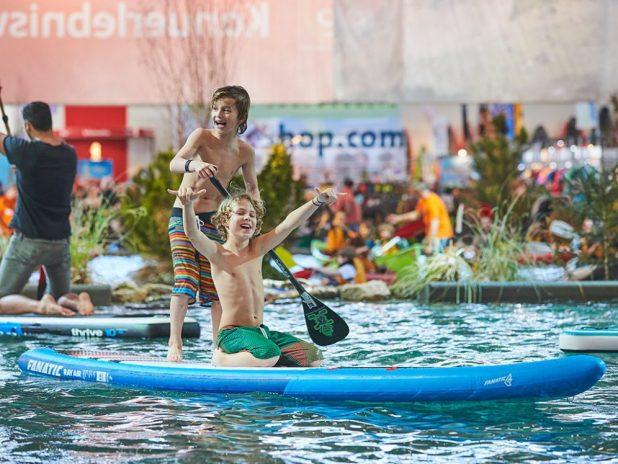 SUP auf der Reise- und Freizeitmesse Free in München Quelle Foto Messe München