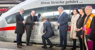Eröffnung der Schnellbahnstrecke München-Berlin Quelle Foto Bundesministerium für Verkehr