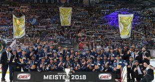 EHC München Deutscher Meister 2018 Quelle Foto EHC Red Bull München