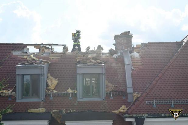 Dachstuhlbrand Daimlerstraße München
