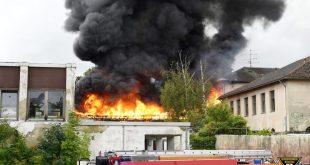 Großbrand in der ehemaligen Gehörlosenschule