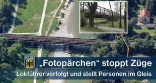 Fotopärchen bringt Züge auf Braunauer Brücke zum Stehen
