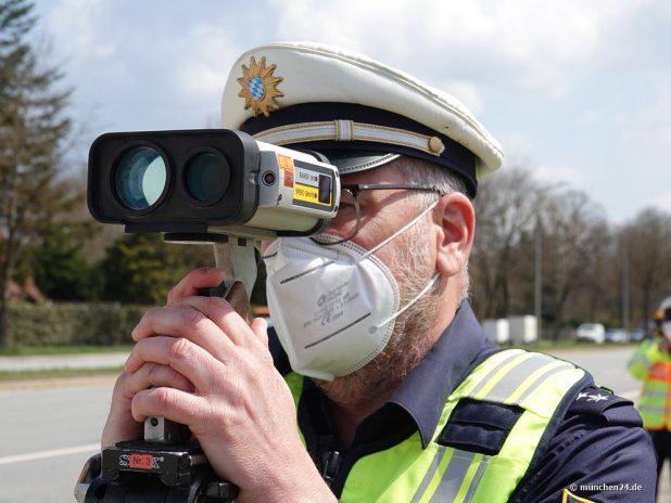 Radarkontrolle Polizei München Wasserburger Landstraße
