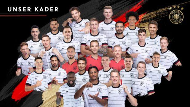 Der Kader für die Fußball-EM