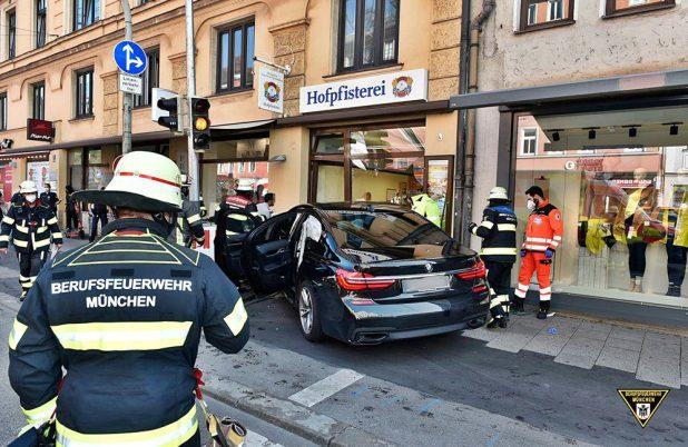 Verkehrsunfall in der Zweibrückenstraße München