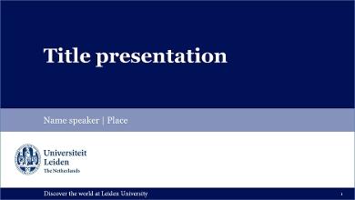 PowerPoint Templates Leiden University