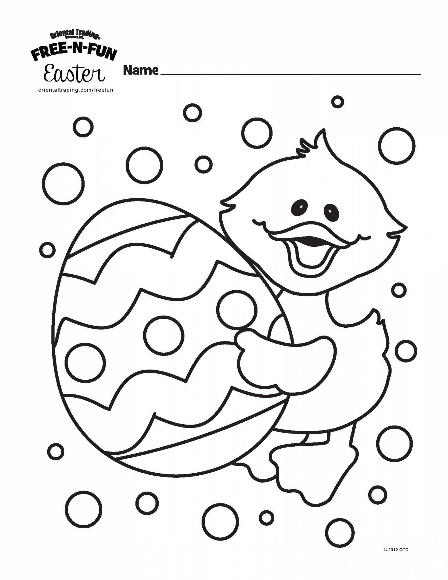 Easter Egg Preschool Fill In Worksheet