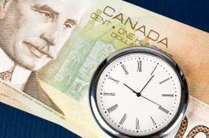 Case Study: Time is Money, canadian dollar and clock