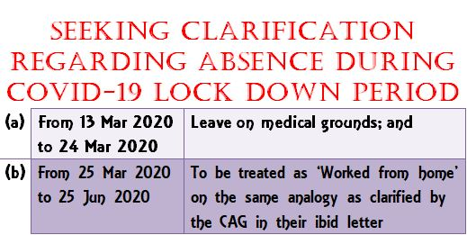 Absence during COVID-19 Lockdown Period: BPMS writes to MoD for clarification