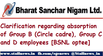 clarification-regarding-absorption-of-group-b-circle-cadre-group-c-and-d-employees-bsnl-optee