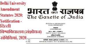 delhi-university-amendment-statutes-2020